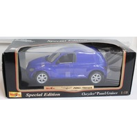 MAISTO / SPECIAL EDITION BLUE CHRYSLER PT PANEL CRUISER 1:18 DIE CAST CAR NIB