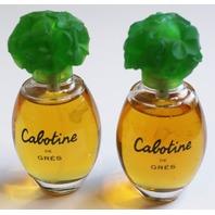 Cabotine De Gres Perfume Bottle Lot of 2 1.69 FL oz each Parfums