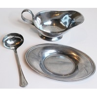 Reed and Barton Stainless Gravy Ladle Spoon with Boat Pour