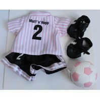 Muffy Vanderbear Soccer Set with Ball and Shoes Outfit Set in Package
