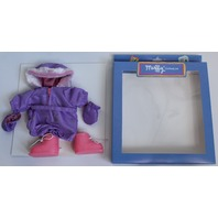 Muffy Vanderbear Purple Snowsuit with Boots Outfit Set in Package