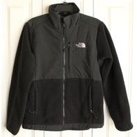 Womens North Face Jacket Sz M Black Full Zip Coat
