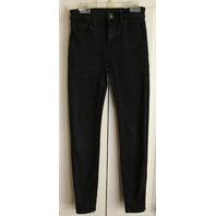 Womens Teens American Eagle Sz 00 Short black jeans Skinny Leg