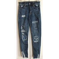 American Eagle Womens Teens Sz 00 Short distressed jeans
