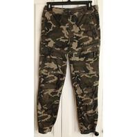 Teen Girls Nitrous Black Army Green Camo Jeans Sz L