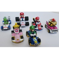Hot Wheels Mario Luigi Yoshi Princess Peach Lot of 6 Card and Characters