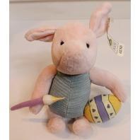 Gund Walt Disney Classic Pooh Piglet Toy Plush Stuffed Painting an Easter Egg