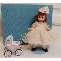 """Madame Alexander #801 8"""" Wendy Loves Mommy with Metal Baby Bunny and Baby Bear"""