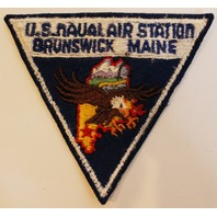 United States US Naval Air Station Brunswick Maine Vintage 1950's Uniform Patch
