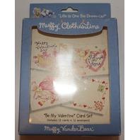 Muffy Vanderbear Valentine Cards and Envelope in original package 12 of Each