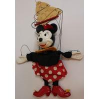 Vintage Disney Minnie Mouse Marionette Puppet Composition