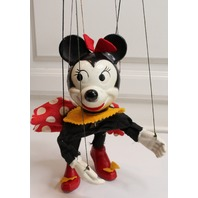 Vintage Disney Minnie Mouse Marionette Puppet Composition