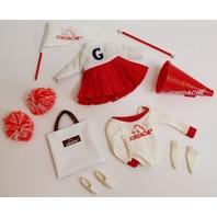 Vogue Ginny Doll Jordache Cheer Set pom poms shoes skirt set Outfit lot