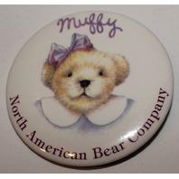 Muffy Vanderbear Hoppy Vanderhare North American Bear Company Metal Button Pin