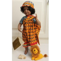 """Georgetown Collection Mariama French West Aftica Sengal Doll in original Box 21"""""""