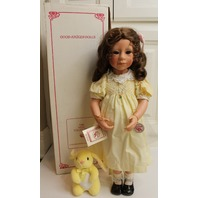 """Julie Good Kruger Doll in original Box 21"""" Party Manners Girl in Yellow Dress"""