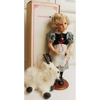 "Julie Good Kruger Doll in original Box 21"" Heidi with Mountain Goat Gruff Plush"
