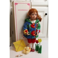 """Julie Good Kruger Doll in original Box 21"""" High Spirits Red Head Girl with Toys"""
