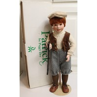 "Danbury Mint Patrick by Peggy Day Irish Boy Doll in original Box 21"""