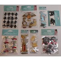 Jolee's Boutique Men's Metal Beer Owl Bike Masculine Trophy Lot Scrapbook/Card