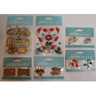 Jolee's Boutique Christmas Holiday Card Making Lot Scrapbook/Card