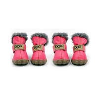 Small Dog Snow Boots Pet Antiskid Dog Shoes Winter Waterproof Booties Boots