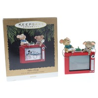 Video Party Magic Light and Changing Scene Mice Mouse Hallmark Keepsake Ornament