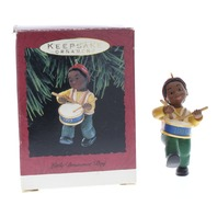 Little Drummer Boy African American Hallmark Keepsake Ornament