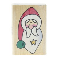 Westwater Enterprises 2001 Santa Claus Whimsical with Star Wooden Rubber Stamp