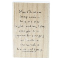 What Christmas Brings Stampin Up 2002 Wooden Rubber Stamp