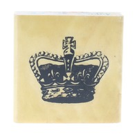 Anita's King Queen Crown Princess Royalty Wooden Rubber Stamp