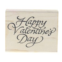 Denami Design Happy Valentines Day 1997 Wooden Rubber Stamp