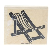 Stampin UP 2006 Lawn Beach Chair Summer Fun Wooden Rubber Stamp