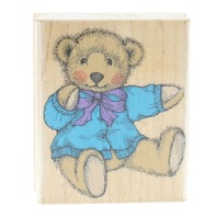 Hero Arts Limited Edition Old Fashioned Teddy Bear Wooden Rubber Stamp