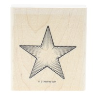 Stampin Up Shining Star  Wooden Rubber Stamp