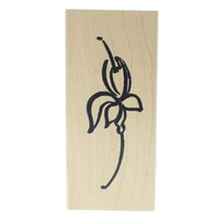 Denami Design Oversized Flower Blossom Whimsical Sketch Wooden Rubber Stamp