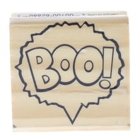 Recollections Boo in a Quote Bubble Words Writing Wooden Rubber Stamp