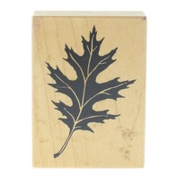 PSX F 1143 Oak Leaf Fall Autumn Negative Space Wooden Rubber Stamp