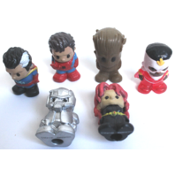 Ooshies Pencil Toppers Starlord Black Widow Spider Man Grute Original Boxes NRFB