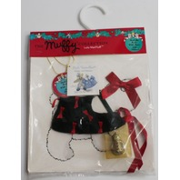 Muffy Vanderbear Dog  LuLu McFluff Costume Deck the Halls with Bells and Dollies