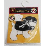 Muffy Vanderbear Dog  LuLu McFluff Costume Portrait in Black and White