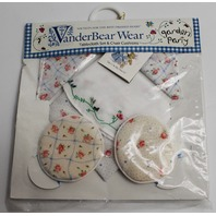 Muffy Vanderbear Garden Party Tablecloth and Chair Cushions Set in Package