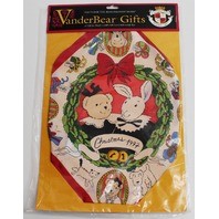 Muffy Vanderbear Holiday Christmas Silk Scarf and Gift Box Set in Package