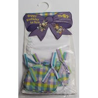 Muffy Vanderbear Tablecloth adn Cushions Happy Birthday to You Set in Package