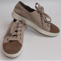 Womens Eileen Fisher Tie Sneaker Sz 9.5 Tan Suede Shoe