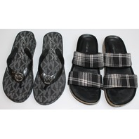Womens Lot MK Michael Kors Flip Flops New Sz 5/ Indigo Sandals 6.5