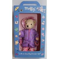 Muffy Vanderbear Bear in Purple and Pink Winter Snow Suit Set in Original Box