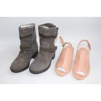Teen Lot Sam Edelman Boot Sz 4 MackinJ 5.5 New Pink Peep Toe