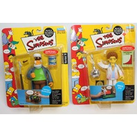 Simpsons Disco Stu Captain McCallister Lot Action Figure Moc New