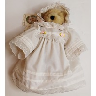 Muffy Vanderbear Bear Infant Christening Gown white with pink accents Fan Club